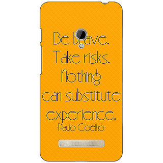 1 Crazy Designer Quote Back Cover Case For Asus Zenfone 5 C491354
