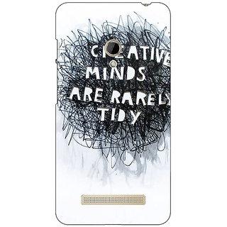 1 Crazy Designer Quote Back Cover Case For Asus Zenfone 5 C491356