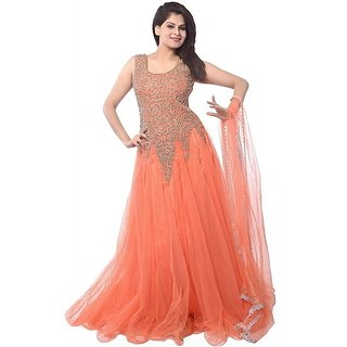 Nikha Designer - Orange Anarkali Dress