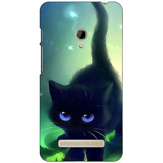1 Crazy Designer Cute Black Kitten Back Cover Case For Asus Zenfone 5 C491138