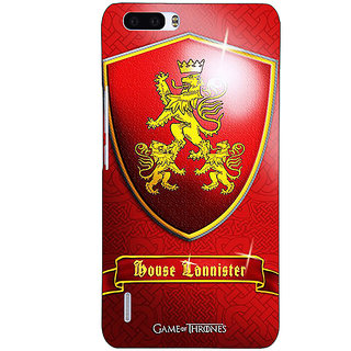 1 Crazy Designer Game Of Thrones GOT House Lannister  Back Cover Case For Honor 6 Plus C500164