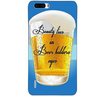 1 Crazy Designer Beer Holder Back Cover Case For Honor 6 Plus C501208
