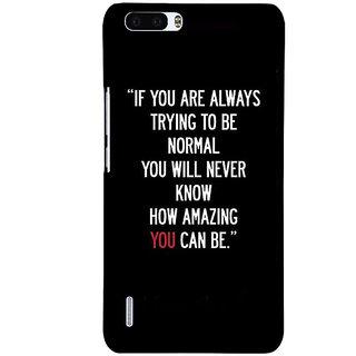 1 Crazy Designer Quote Back Cover Case For Honor 6 Plus C501472
