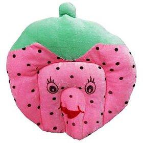 Wonderkids Baby Mustard(Rai) Pillow Strawberry Shape Pink