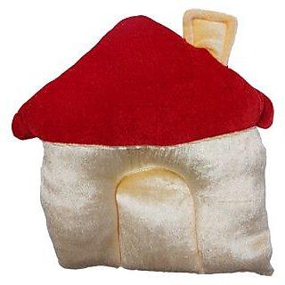 Wonderkids Baby Pillow House Shape  Golden & Red