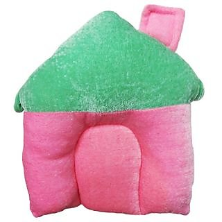 Wonderkids Baby Pillow House Shape  Pink & Green