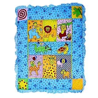 Wonderkids Baby Quilt Animal Print