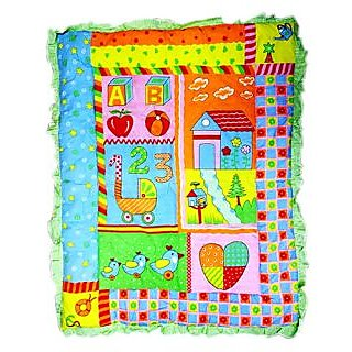 Wonderkids Baby Quilt Sweet Home Print