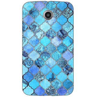 1 Crazy Designer Blue Moroccan Tiles Pattern Back Cover Case For Google Nexus 6 C510287
