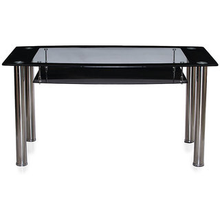 ASHU TRADERS FURNITURE Glass 6 Seater Dining Table