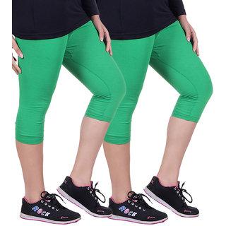 Madona Capri With Mayani - Pack of 2 (Green-Green)