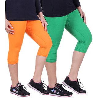 Madona Capri With Mayani - Pack of 2 (Green-Orange)