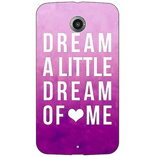 1 Crazy Designer Dream Love Back Cover Case For Google Nexus 6 C510090