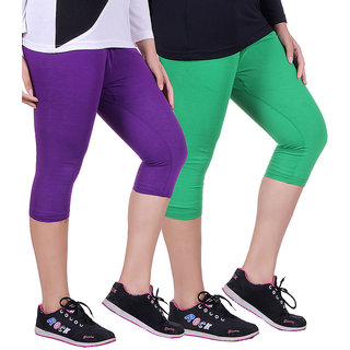 Madona Capri With Mayani - Pack of 2 (Green-Purple)