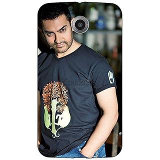 1 Crazy Designer Bollywood Superstar Aamir Khan Back Cover Case For Google Nexus 6 C510918