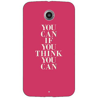1 Crazy Designer Quotes Back Cover Case For Google Nexus 6 C511193