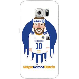 1 Crazy Designer Real Madrid Sergio Ramos Back Cover Case For Samsung S6 C520587
