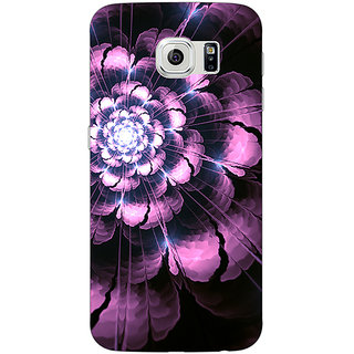 1 Crazy Designer Abstract Flower Pattern Back Cover Case For Samsung S6 C521502