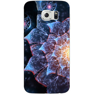 1 Crazy Designer Abstract Flower Pattern Back Cover Case For Samsung S6 C521515