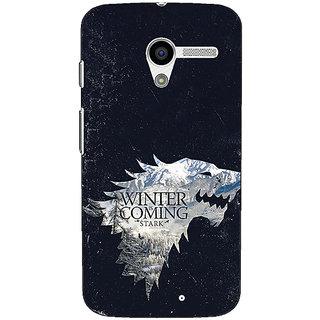 1 Crazy Designer Game Of Thrones GOT House Stark  Back Cover Case For Moto X (1st Gen) C530131