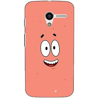 1 Crazy Designer Spongebob Patrick Back Cover Case For Moto X (1st Gen) C530465
