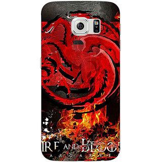 1 Crazy Designer Game Of Thrones GOT Targaryen Back Cover Case For Samsung S6 C521531