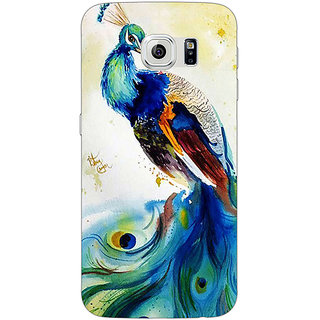 1 Crazy Designer Paisley Beautiful Peacock Back Cover Case For Samsung S6 C521583