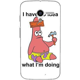 1 Crazy Designer Spongebob Patrick Back Cover Case For Moto X (1st Gen) C530474