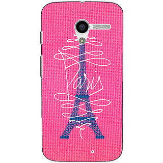 1 Crazy Designer Paris Love Back Cover Case For Moto X (1st Gen) C530605