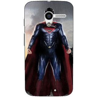 1 Crazy Designer Superheroes Superman Back Cover Case For Moto X (1st Gen) C530870