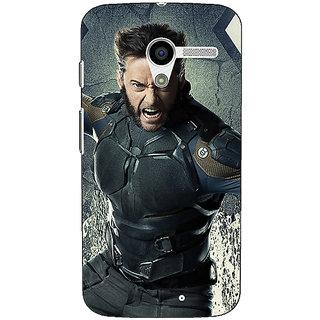 1 Crazy Designer Wolverine Hugh Jackman Back Cover Case For Moto X (1st Gen) C530894