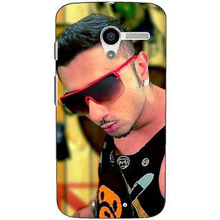 1 Crazy Designer Bollywood Superstar Honey Singh Back Cover Case For Moto X (1st Gen) C531181