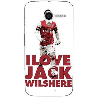 1 Crazy Designer Arsenal Jack Wilshere Back Cover Case For Moto X (1st Gen) C530520