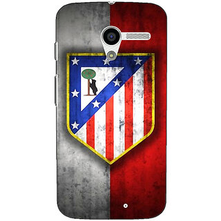 1 Crazy Designer Athletico Madrid Back Cover Case For Moto X (1st Gen) C530521