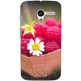 1 Crazy Designer Berry Love Back Cover Case For Moto X (1st Gen) C530692