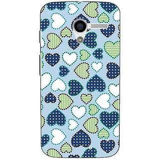 1 Crazy Designer Hearts Back Cover Case For Moto X (1st Gen) C530706