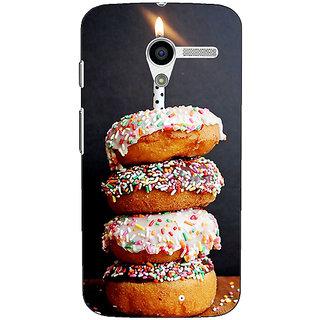 1 Crazy Designer Donut Birthday Back Cover Case For Moto X (1st Gen) C531218