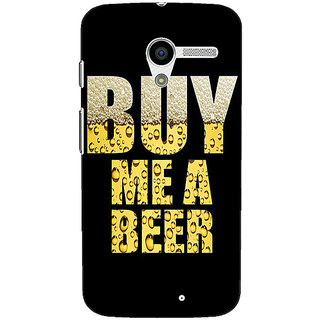 1 Crazy Designer Beer Quote Back Cover Case For Moto X (1st Gen) C531224