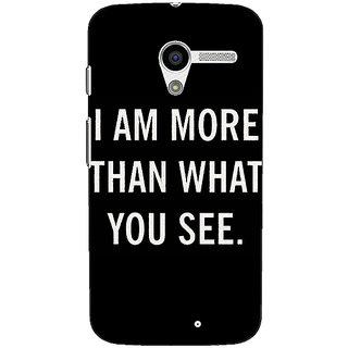 1 Crazy Designer Quote Back Cover Case For Moto X (1st Gen) C531230