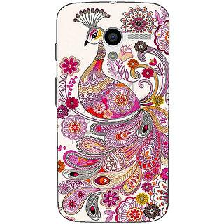 1 Crazy Designer Paisley Beautiful Peacock Back Cover Case For Moto X (1st Gen) C531584