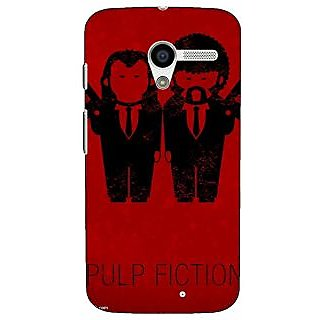 1 Crazy Designer Pulp Fiction Back Cover Case For Moto X (1st Gen) C530353