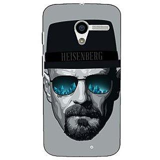 1 Crazy Designer Breaking Bad Heisenberg Back Cover Case For Moto X (1st Gen) C530413