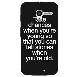1 Crazy Designer Quote Back Cover Case For Moto X (1st Gen) C531476