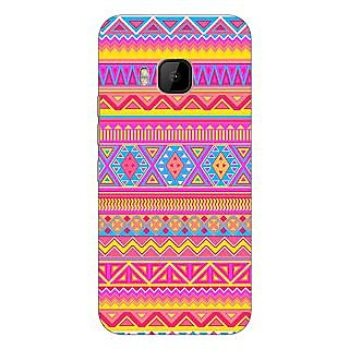 1 Crazy Designer Aztec Girly Tribal Back Cover Case For HTC M9 C540072