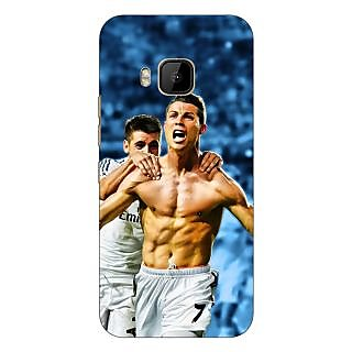 1 Crazy Designer Cristiano Ronaldo Real Madrid Back Cover Case For HTC M9 C540314