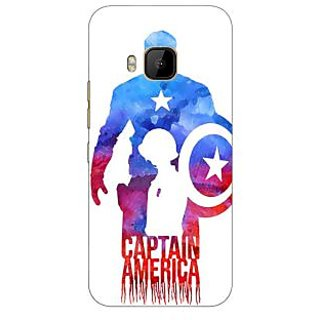 1 Crazy Designer Superheroes Captain America Back Cover Case For HTC M9 C540332