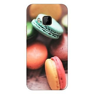 1 Crazy Designer Macaroons Back Cover Case For HTC M9 C540685