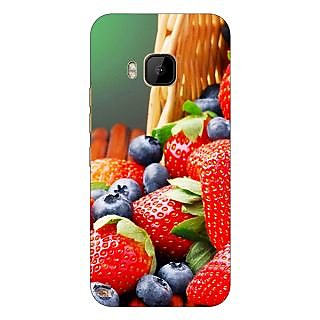 1 Crazy Designer Strawberry Love Back Cover Case For HTC M9 C540695