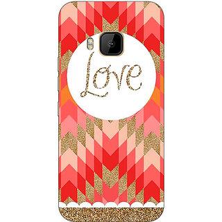 1 Crazy Designer Love Back Cover Case For HTC M9 C540096
