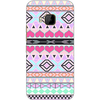 1 Crazy Designer Aztec Tribal  Back Cover Case For HTC M9 C540705